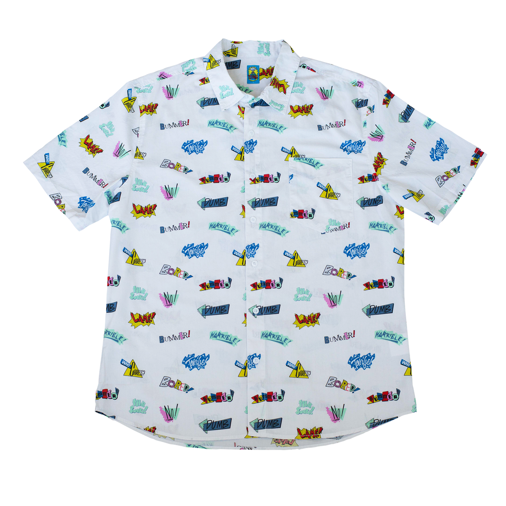 VINTAGE STICKERS BUTTON DOWN