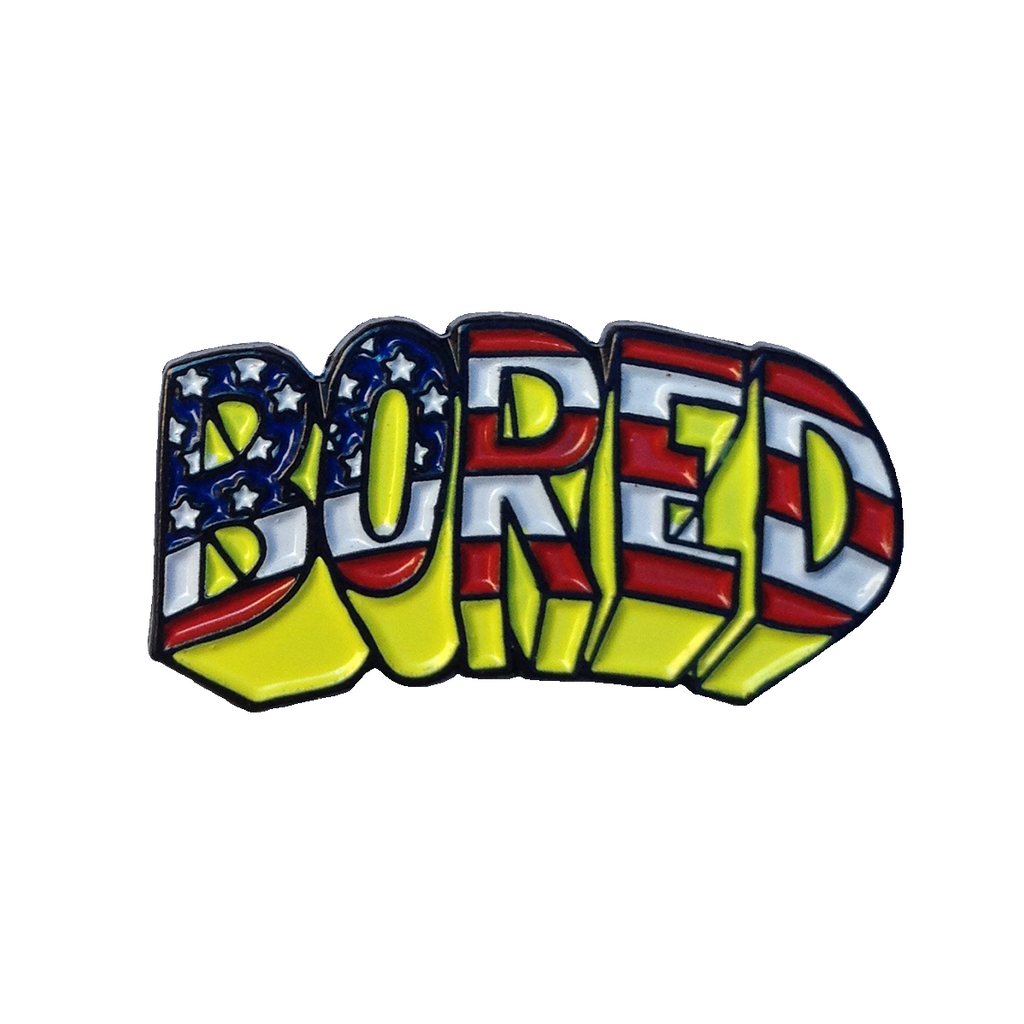 BORED FLAG PIN