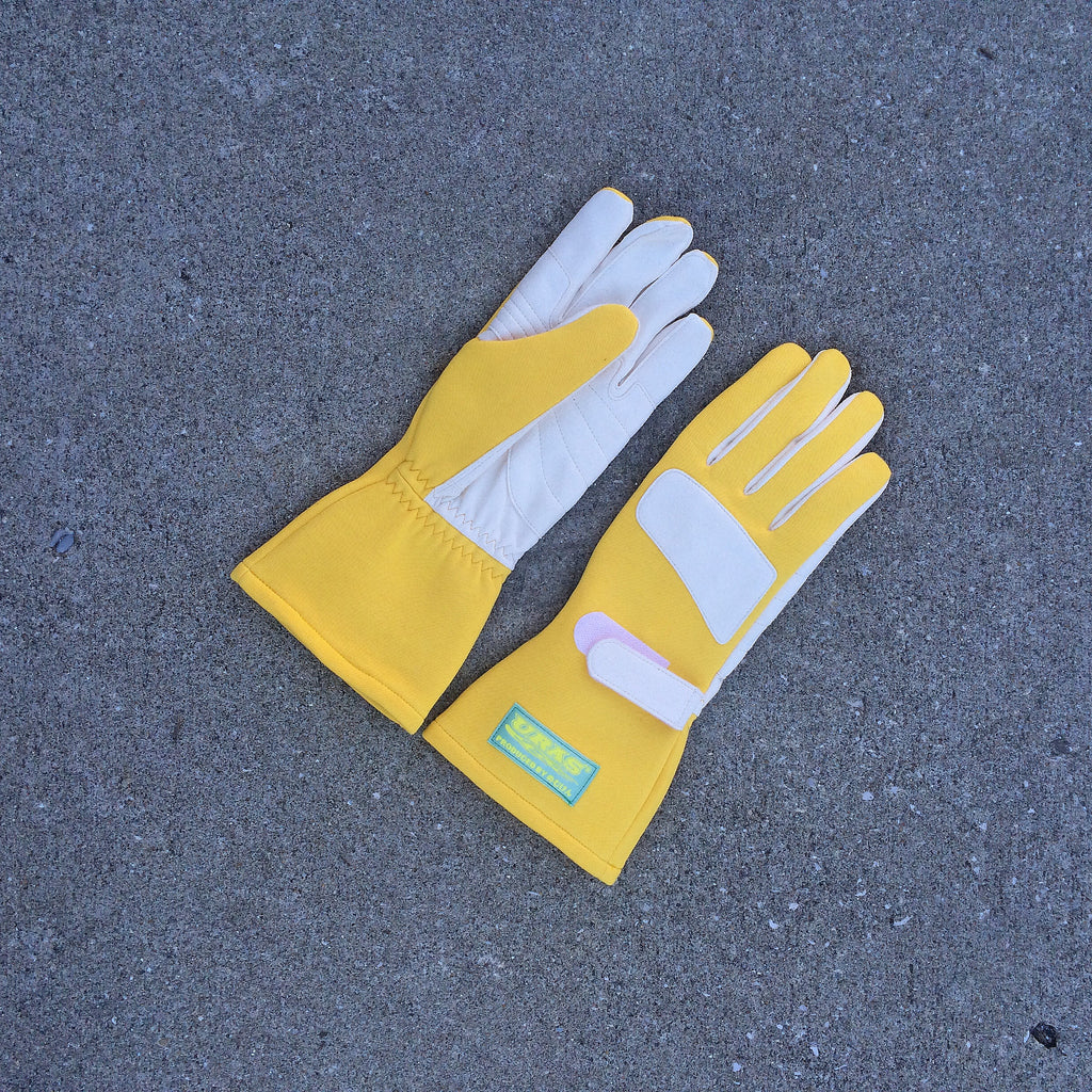 Uras Racing Gloves (Yellow)