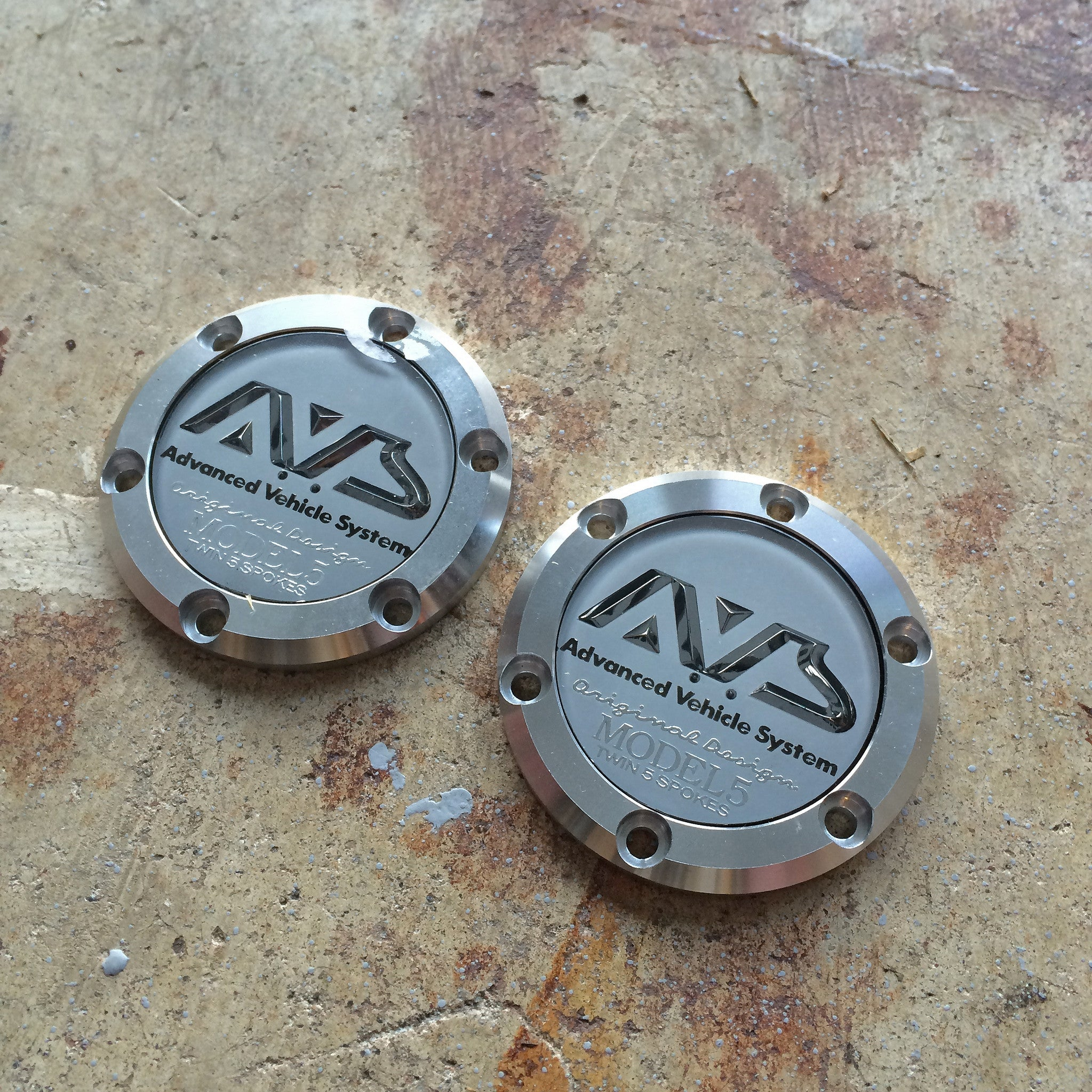 Advan AVS Model-5 Wheel Center Caps (New)