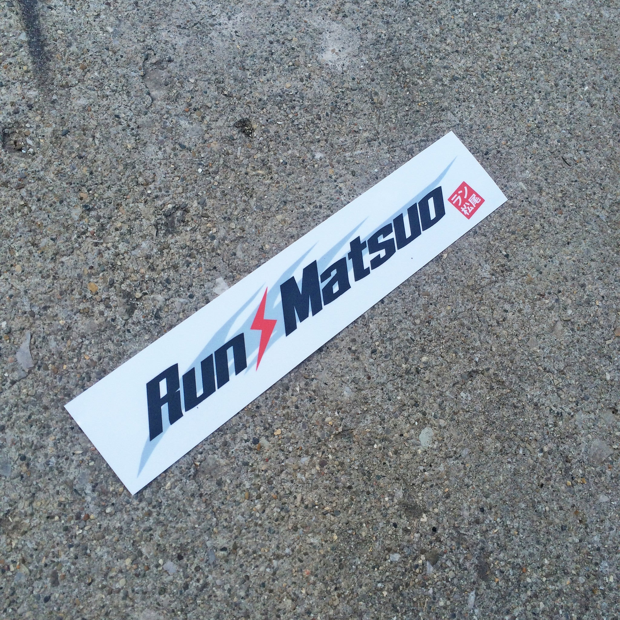 Run-Matsuo Long Sticker (White)