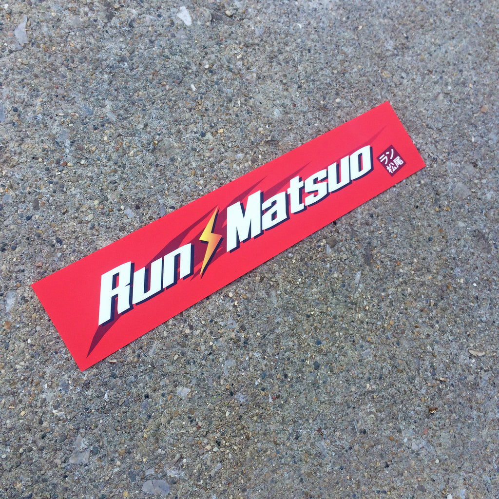 Run-Matsuo Long Sticker (Red)