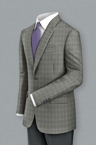 Black & White Houndstooth w Lavender Windowpane Jacket
