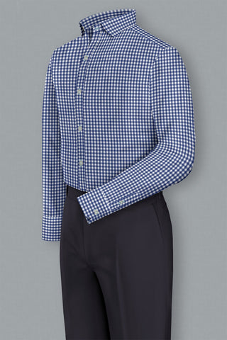 Navy Gingham Check