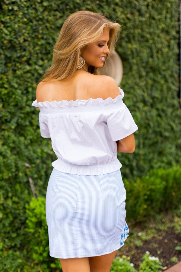 The Shelby Top - White
