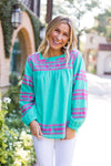 The Katie Top - Teal