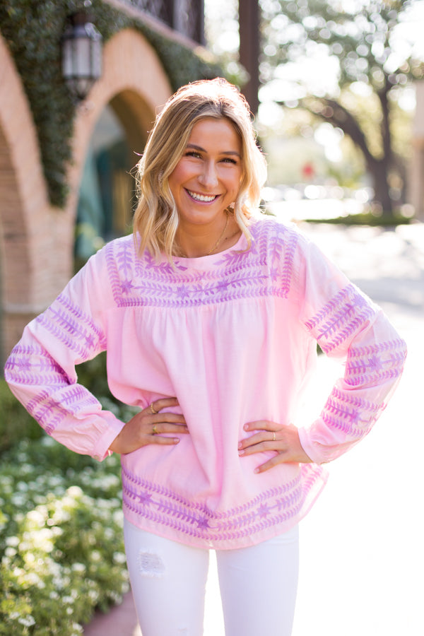 The Katie Top - Pink