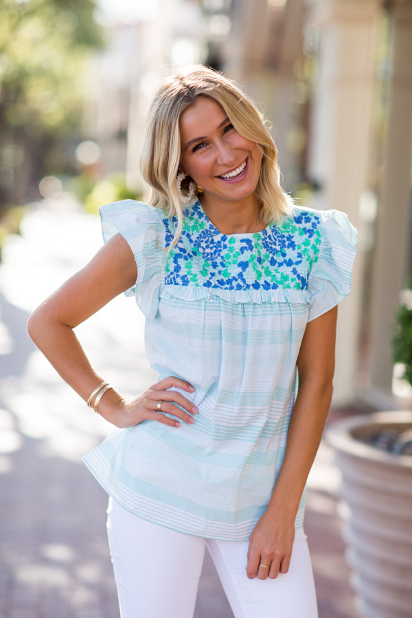 The Nora Top - Teal