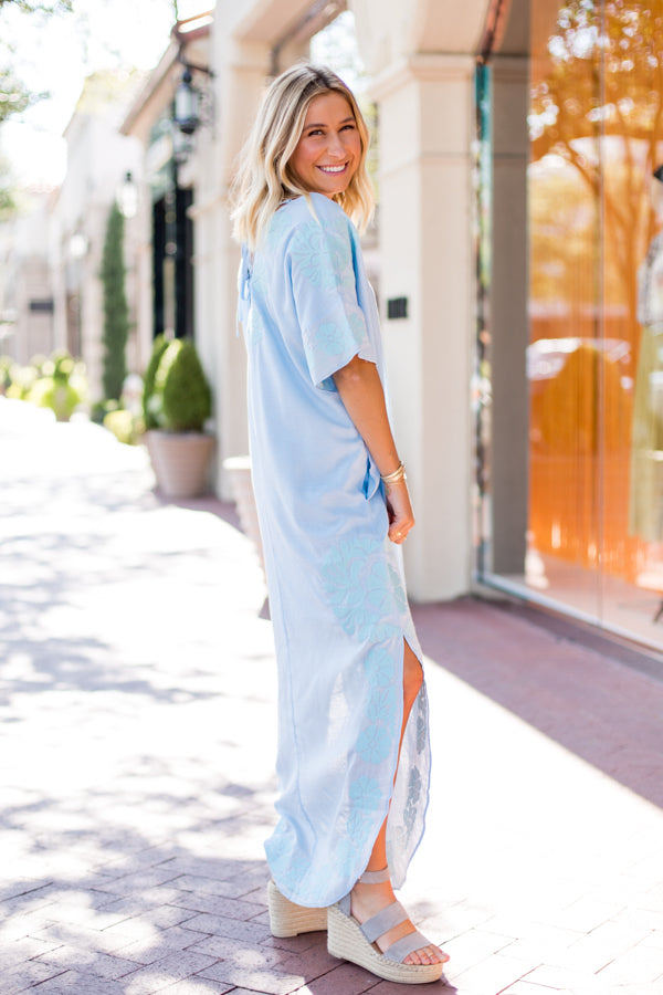 The Luna Dress - Light Blue