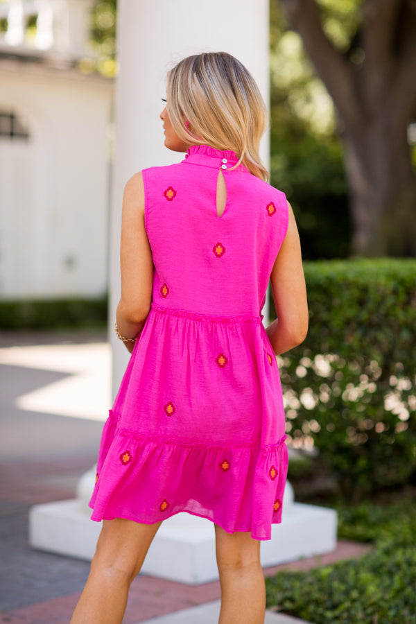The Evelyn Dress - Pink