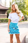 The Marina Skirt - Turquoise