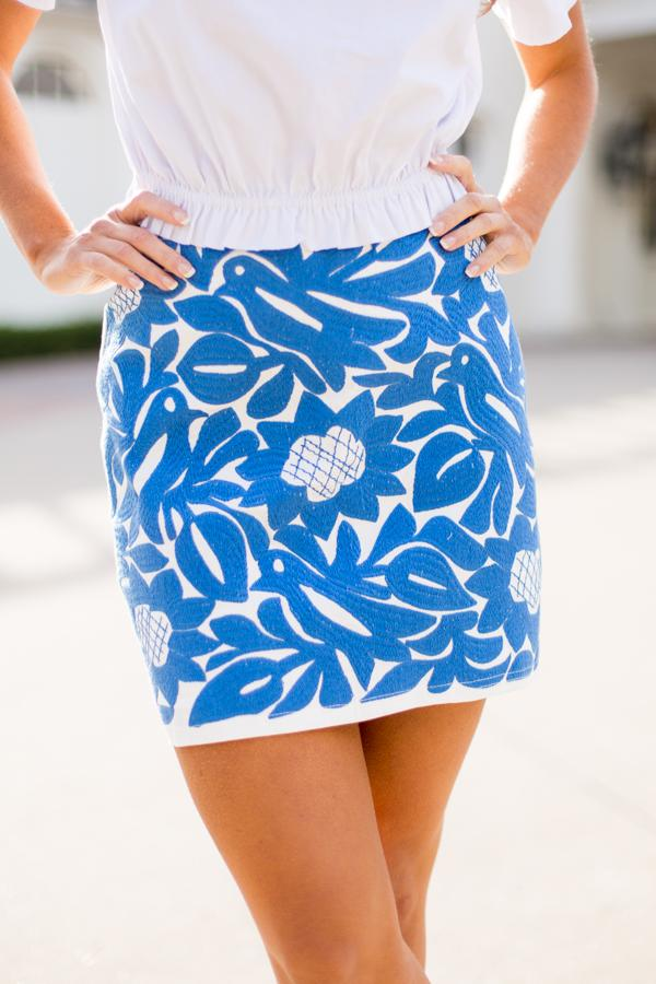 The Marina Skirt - Periwinkle