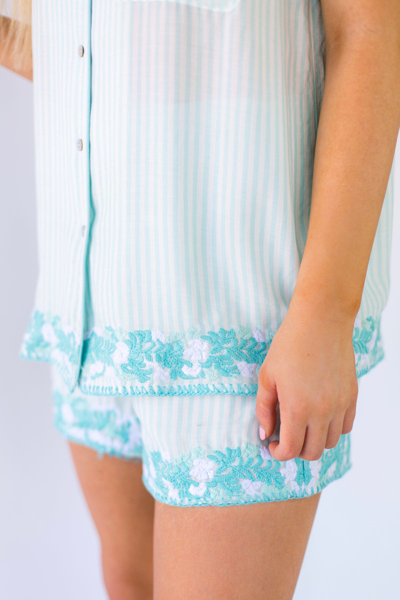 The Micaela Shorts - Mint