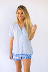 The Micaela Top - Blue