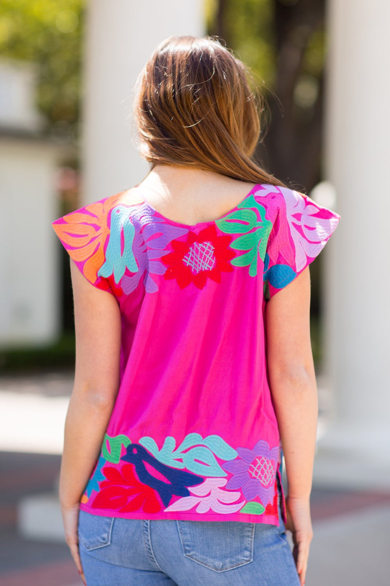 The Maya Split Top - Pink