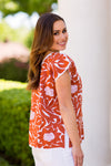 The Mia Top - Burnt Orange