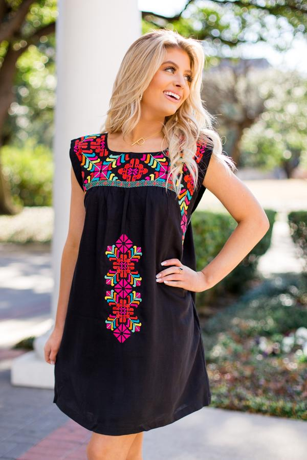 The Mckenna Sleeveless Dress - Black