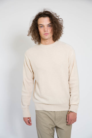 Maiden Noir Piled Crew Sweater Natural