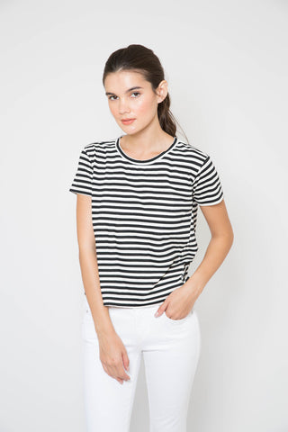 AMO Seaton Stripe Twist Tee
