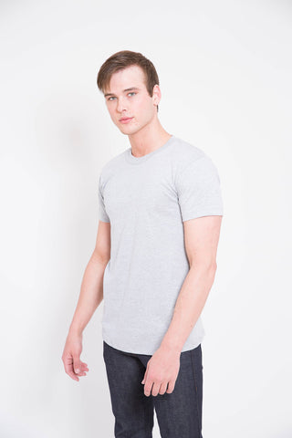 Naked and Famous Heather Grey Circular Knit T-Shirt