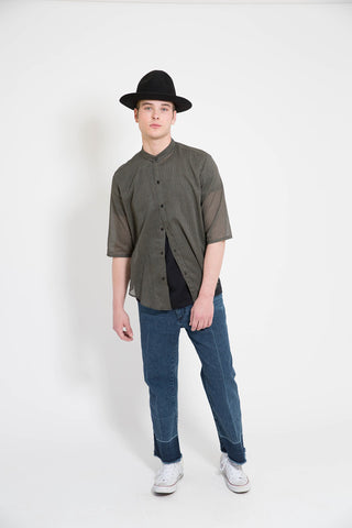 Assembly Non Collar Black Hokkah Shirt