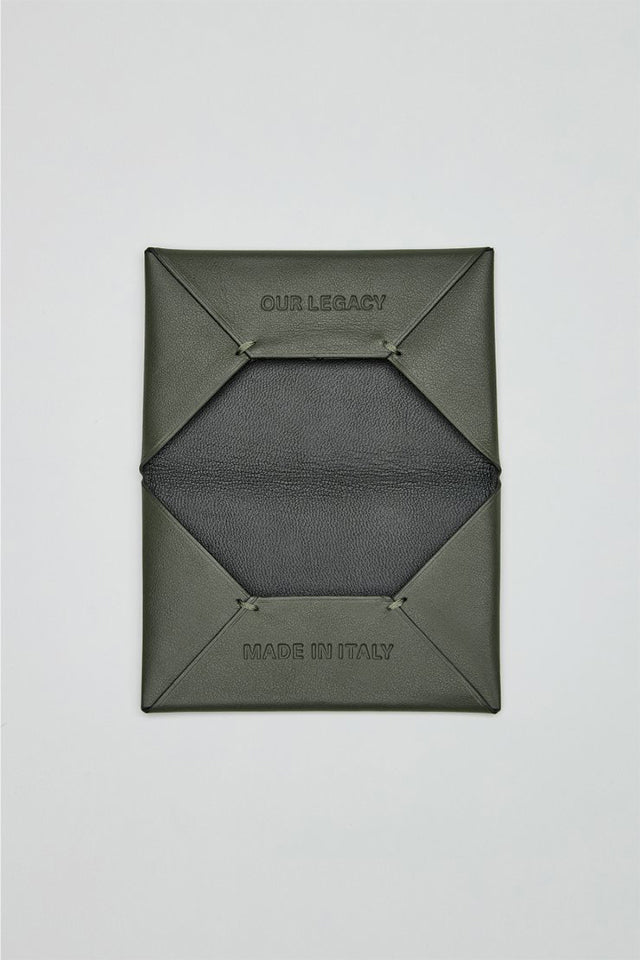 Our Legacy Chorus Bi Fold Cardholder Military Green