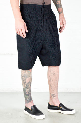 Chapter Black Smocking Lam Short