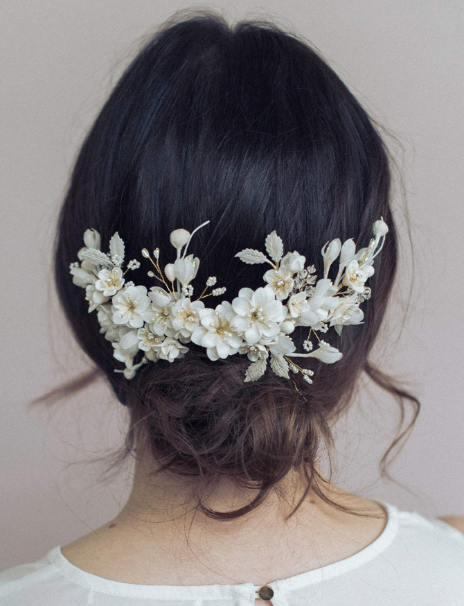 Creamy Decadence Floral Headpiece