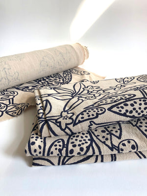 Fabric length - Daintree print on 100% linen
