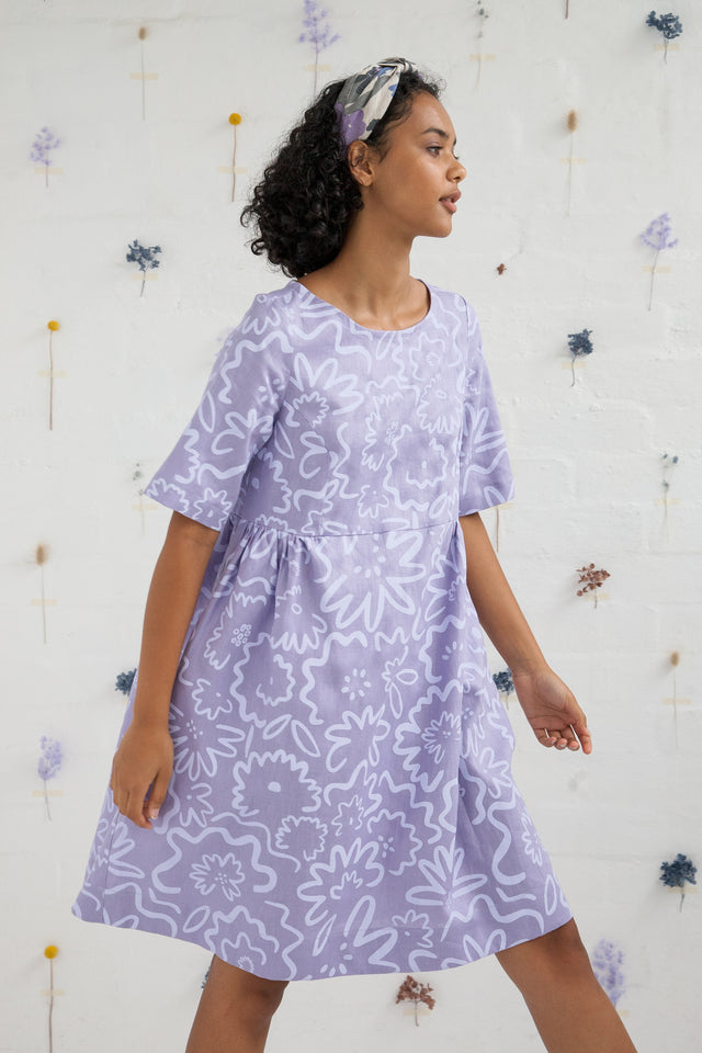 Smock dress - Daisy Field, Jacaranda