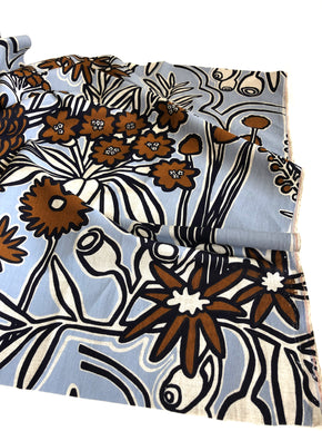 Fabric length - Flora design on 60% Linen, 40% rayon