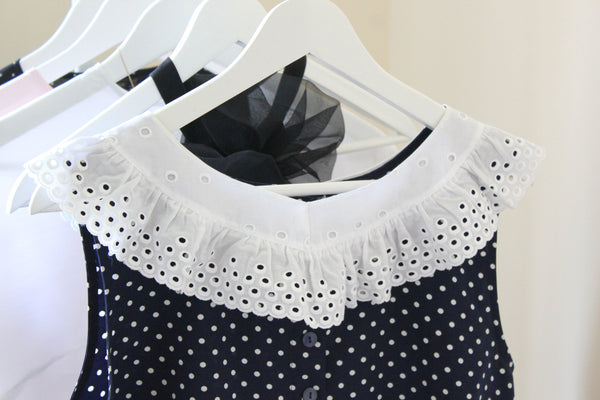 vintage French ruffle collar
