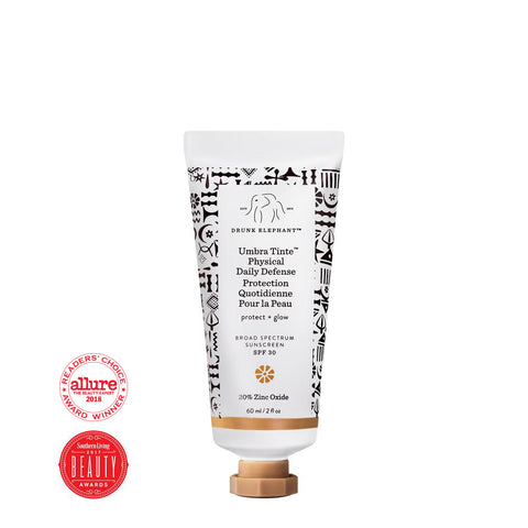Umbra Tinte Physical Daily Defense SPF 30 with Southern Living and Allure Award Badge