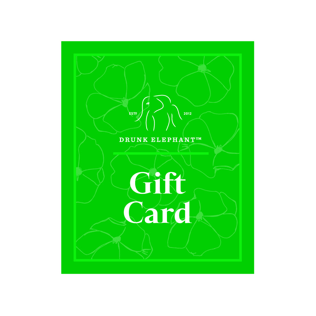 bright green image of Drunk Elephant electronic gift card