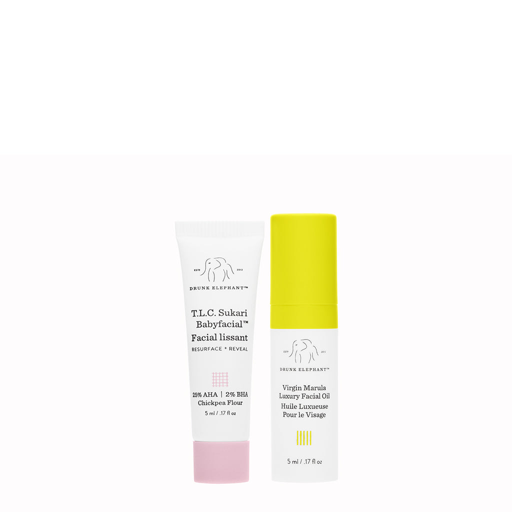 T.L.C. Sukari Babyfacial™ + Virgin Marula Luxury Facial Oil Deluxe Sample Duo