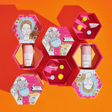 Two Octagon-Shaped Big Reveal Kits with compartments opened to reveal Babyfacial and the Minis