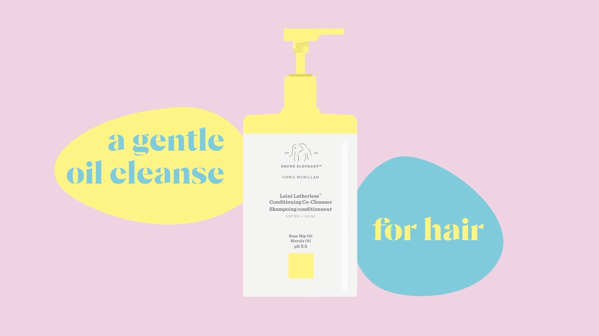 Introducing Laini Latherless: a gentle oil cleanse for hair (desktop placeholder image)