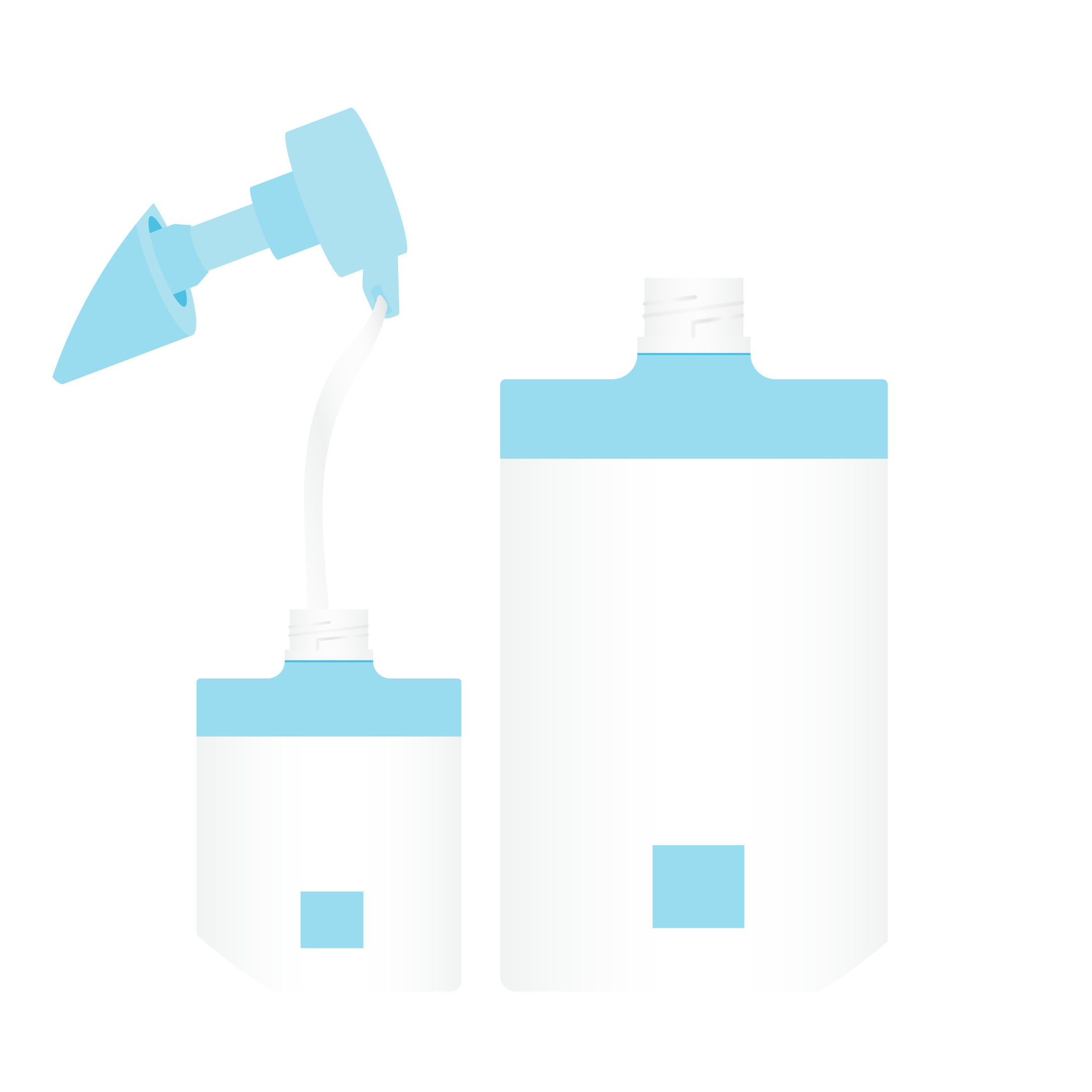 illustration of two bottles being refilled