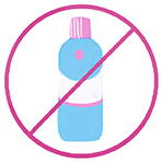 Illustration of an alcohol bottle crossed out