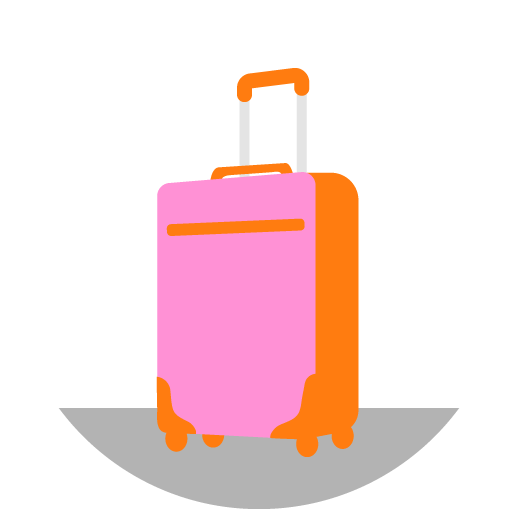 illustration of a roller carryon piece of luggage
