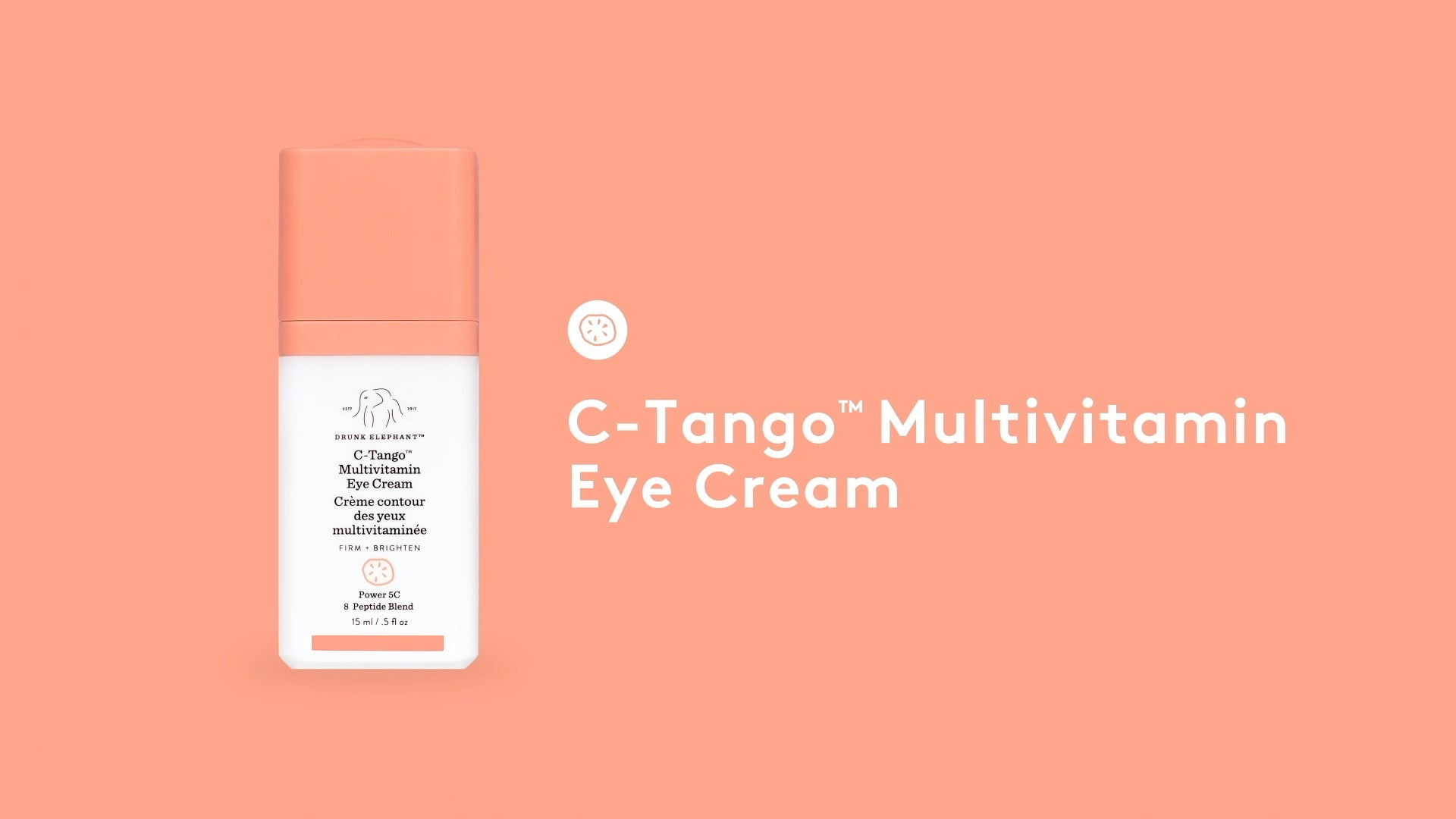 video introducing Drunk Elephant C-Tango Multivitamin Eye Cream