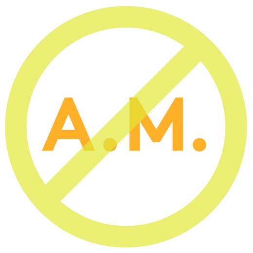 graphic for no A.M. (morning) cleanse