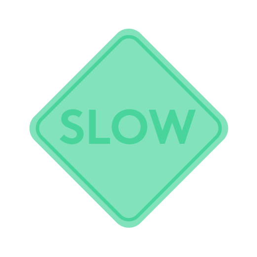 Illustration of a green slow sign