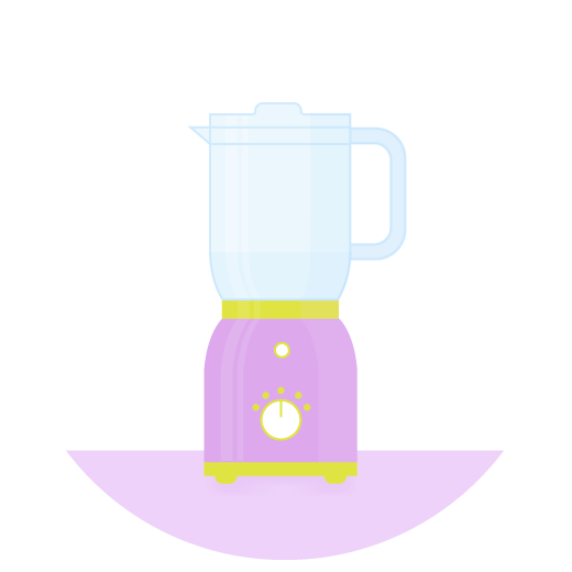illustration of a kitchen blender