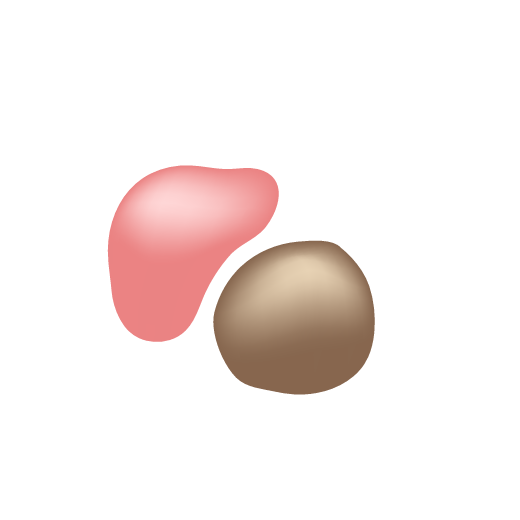 Illustration of O-Bloos and D-Bronzi drops showing that they can be mixed together
