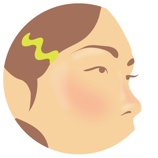 illustration of a woman's cheek with a blush flush