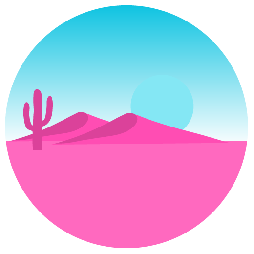 stylized illustration of a desert