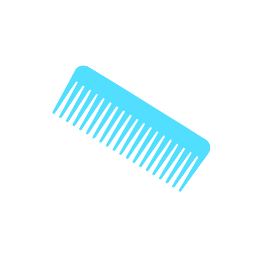 illustration of the acrylic comb included in the kit