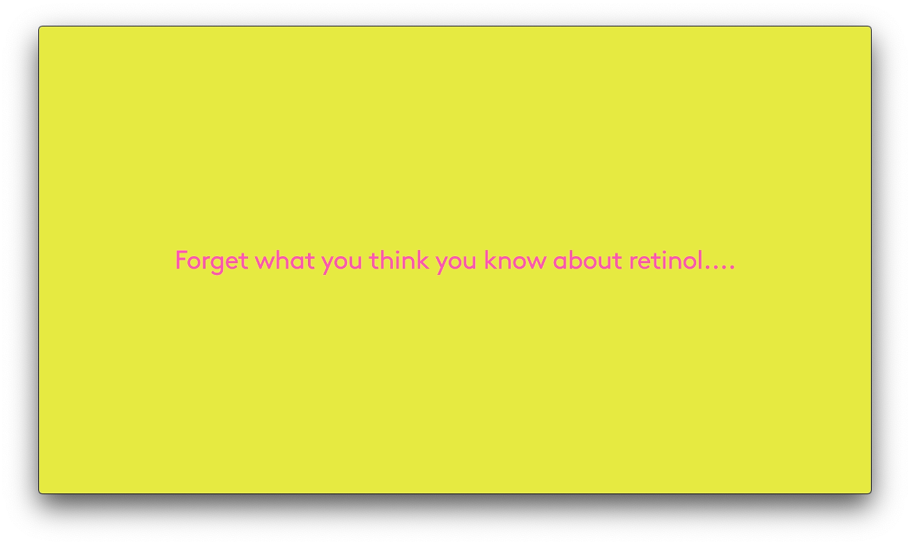 video talking about some of the myths around retinol