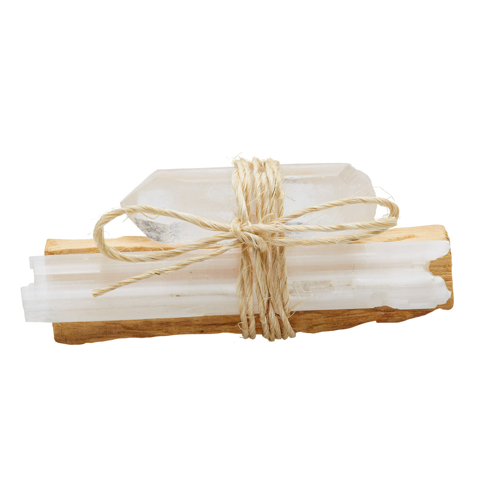 CLEAR QUARTZ: Palo Santo Bundle